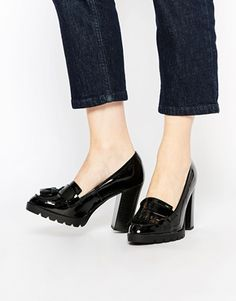 New Look Patent Heeled Loafer