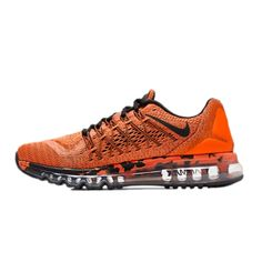 check out b6144 69850 Nike Air Max 2015 Premium Crimson Orange Mens Running Shoe 749373-800