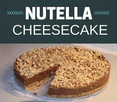 Vildt lækker Nutella cheesecake, der kan laves med ganske få ingredienser. Den kan virkelig anbefales.
