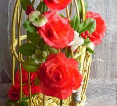 Купить Интерьерная композиция Цветочное настроение - интерьерная композиция, букет из полимерной глины, букет цветов