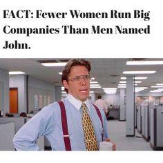 Fewer Women Run Big Companies Than Men Named John. http://nyti.ms/1Er1dos pic via https://instagram.com/bestbodymemoir/