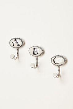 Ceramic Letter Hook Bathroom