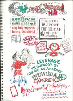 The Digital Tsunami is my latest book. This is a sketchnote that appears in the August Issue of People Matters magazine