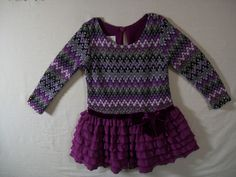 Iris & Ivy Girls Size 18 Months Purple Dress Long Sleeve Dressy Fall Polyester #IrisIvy #Dressy