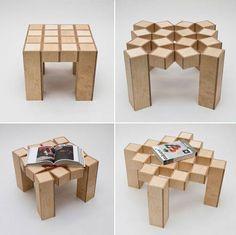 Mesa de cuadritos que se puede modificar haciéndose mas grande al mover los cuadros