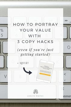 Want to know how to portray your value in your writing? Make sure to read through this post from Ashlyn Carter of Ashlyn Writes on how to portray your value with 3 easy copy hacks! And while you are there - take the online quiz as well :)  #ashlynwrites #onlinequiz #findyourvoicevibe #copywriting #portrayyourvalue