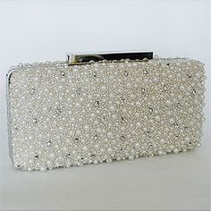 Beaded Pearl Clutch by Badgley Mischka.  Fabulous evening bag.....now where to go??