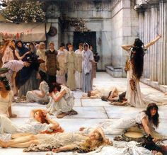 Alma Tadema. Sir Lawrence is one of my personal favourites. Not everyone's cup of tea, especially if you don't appreciate the subject matter, but the boy could paint right?