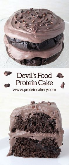 Devil's Food Protein Cake - low carb, gluten free