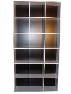 mercadomuebles maxi-organizador en melamina blanca 18 cubos
