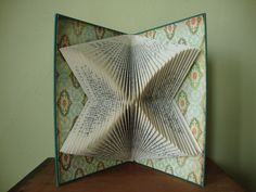 Book with geometric folds