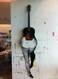 """Kacper Cezary Dzialak made this woman-guitar hybrid as a tribute to the Jimi Hendrix album """"Electric Ladyland."""""""