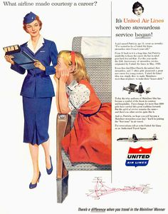 A 1950s United Airlines advertisement