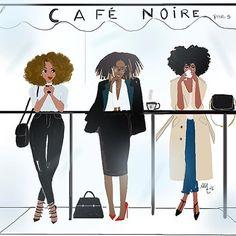 Boss Lady But coffee First Black Love Art, Black Girl Art, Black Is Beautiful, Black Girl Magic, Black Girls, Beautiful Women, Fashion Moda, Fashion Art, Natural Hair Art
