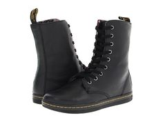 Dr. Martens Stratford 9-Eye Fold Down Boot Black - Zappos.com Free Shipping BOTH Ways