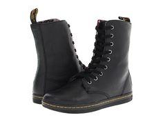 Dr. Martens Stratford 9-Eye Fold Down Boot Black -