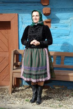Rejdová, Gemer, Slovakia Folk Costume, Costumes, Folk Clothing, Traditional Dresses, High Neck Dress, Culture, European Countries, Central Europe, Pure Products