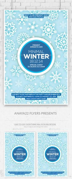 Winter Party Free Club And Party Flyer Psd Template  Winter