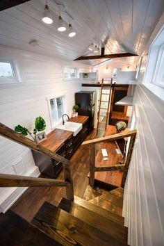 Custom 34′ Loft Edition by Mint Tiny Homes - Tiny Houses On Wheels For Sale #tinyhomeonwheelsforsale