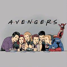Avengers and FRIENDS my two favourite series of all time Avengers Humor, Marvel Avengers, Marvel Jokes, Marvel Comics, Funny Marvel Memes, Marvel Films, Dc Memes, Marvel Heroes, Marvel Cinematic
