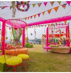 #The light hearted decoration of breezy outdoors #BookEventZ #Indian wedding decor