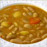 Receta de Judías blancas con verduras