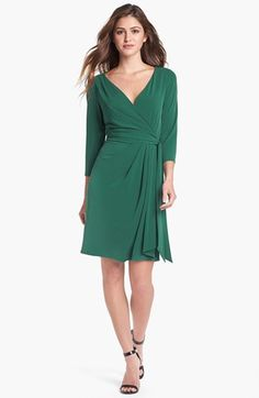 Ivy & Blu for Maggy Boutique Jersey Faux Wrap Dress available at #Nordstrom