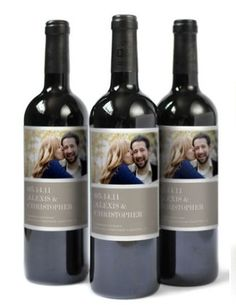 Personalized wedding wine. such a great idea!! must do.
