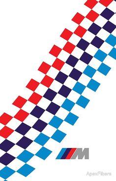 BMW M checkered design