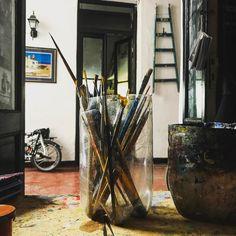 Aquí se pinta www.tallerdepintura.tumblr.com #art #talleresdeartistas #arte #tallerdepinturadelucianogiusti #talleresdeartistas #taller #tallerdearte #tallerdepintura (en Av. Cordoba y Pueyrredón.)