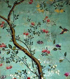 Silk wall paper