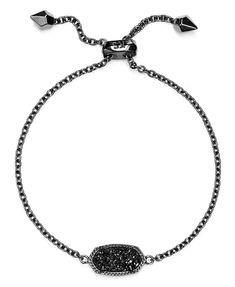 Kendra Scott Elaina Drusy Bracelet In Black Drusy/ Gunmetal Cute Jewelry, Boho Jewelry, Jewelery, Jewelry Accessories, Black Jewelry, Kendra Scott Bracelet, Kendra Scott Jewelry, Druzy Jewelry, Jewelry Bracelets