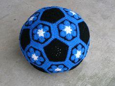 soccer ball! (African flower motif)