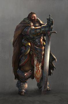 Male, Human, Warrior, Commander, Medium