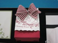 Stampin up fancy favor box