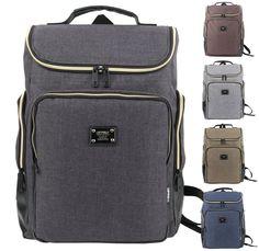 Mens Casual Laptop Backpacks Contrast Zipper Canvas Travel School Bookbag JF618 #Unbranded #Backpack