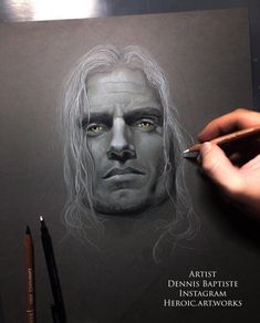 [Artwork] Pencil drawing of Henry Cavill in The Witcher by my buddy Dennis Baptiste - IG: @heroic.art.works : HenryCavill My Buddy, Man Of Steel, Henry Cavill, The Witcher, Pencil Drawings, Pencil Art