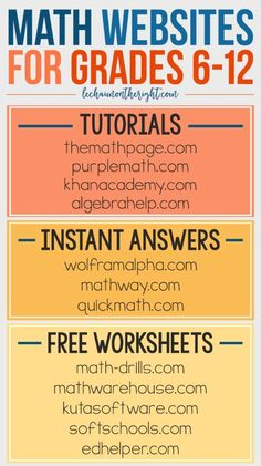 Free STEM Websites for Grades Middle School and High School Free Math Websites for Grades – great for homeschool math - College Scholarships Tips Free Math Websites, Learning Websites, Educational Websites, School Websites, Tech Websites, Websites For Kids, Educational Activities, Free Math Apps, Study Websites