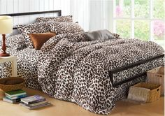 Warm Cheetah Print Bedding Sets