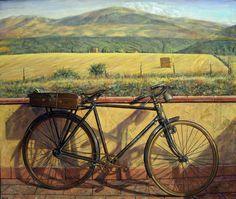 Mi bici #art #painting Oleo sobre Lienzo http://ricardorenedo.gallery/