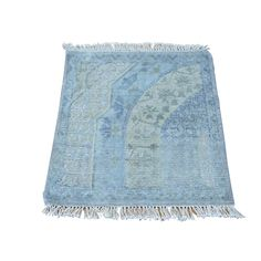 1800getarug Handmade Square Modern Oxidized and Silk Area Rug