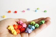Ministernchen Bastelset mit 120 farbigen Papierstreifen und einer detallierten Anleitung