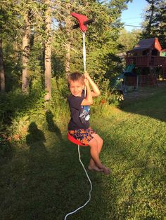 The author's son on a Slackers Eagle Series Zipline installed in his back yard. One Year Old Baby, 9 Year Old Girl, 6 Year Old Christmas Gifts, Christmas Time, Top Gifts For Girls, Cool Toys For Boys, Operation Christmas Child, 9 Year Olds, Best Birthday Gifts