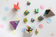 Origami pour la fête de pâques réalisé par Atelier Des Nautes avec de jolis papiers de Mon Petit Art.