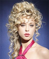 Salon Hairstyle: Formal Updo Long Curly Hairstyle