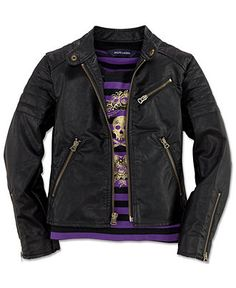Ralph Lauren Kids Jacket, Little Girls Vegan Faux Leather Jacket.  A vegan jacket? It would be cute if it was made from a different material.
