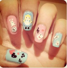 Simple Alice in Wonderland nails
