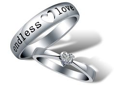 2pcs-925 silvers promise rings plate with the purple platinum.couple rings,wedding bands,lovers rings,platinum promise rings,his her rings on Etsy, $29.50