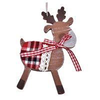 Χριστουγεννιάτικο Στολίδι Ξύλινο 12 εκ < Στολισμός Δέντρου