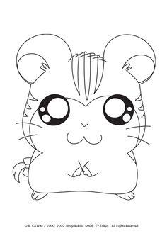 Dibujos para colorear hamtaro 18 dibujos para colorear - Hamster dessin anime ...